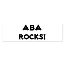Aba Rocks! Bumper Bumper Sticker