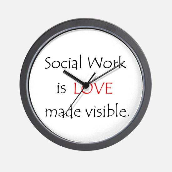 SocialWork is Love Wall Clock