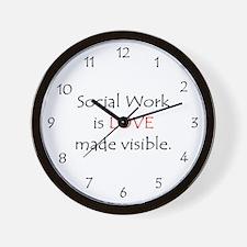 Social Work is Love Wall Clock
