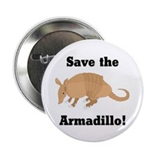 """Save the Armadillo 2.25"""" Button (10 pack)"""