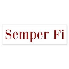 Semper Fi Bumper Bumper Sticker Bumper Bumper Sticker