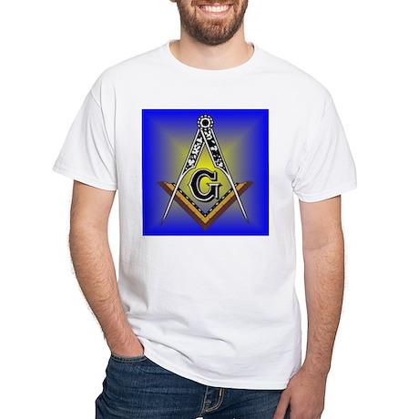 Masonic Square and Compass White T-Shirt