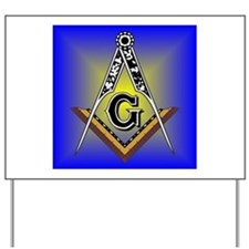 Masonic Square and Compass Yard Sign