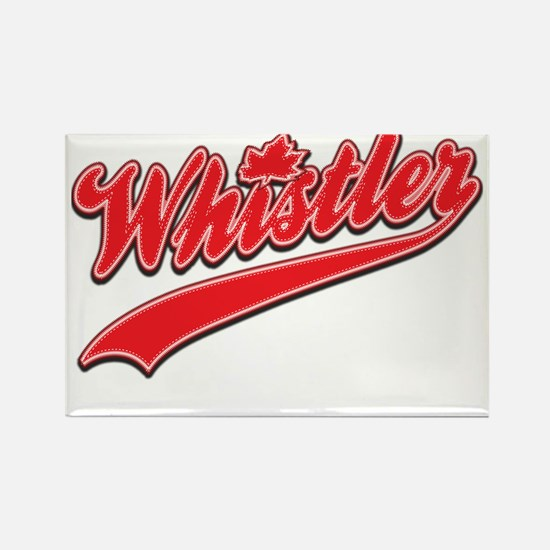 Whistler Tackle and Twill Rectangle Magnet