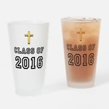 Class Of 2016 Cross Drinking Glass