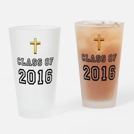Class Of 2016 Cross Drinking Glass