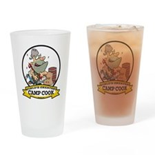 WORLDS GREATEST CAMP COOK Drinking Glass