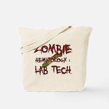 Zombie Hematology Lab Tech Tote Bag