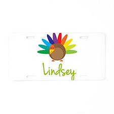 Lindsey the Turkey Aluminum License Plate