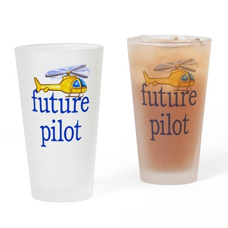 future helicopter pilot Drinking Glass