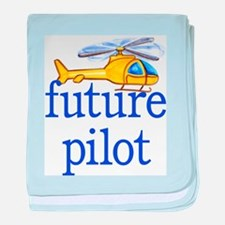 future helicopter pilot baby blanket