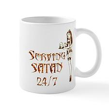 Serving Satan 24 7 Mug