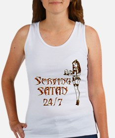 Serving Satan 24 7 Women's Tank Top