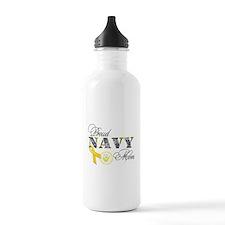 Proud Navy Mom Water Bottle