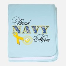 Proud Navy Mom baby blanket