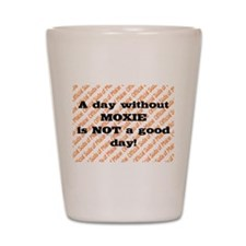 Official soda of Maine: Day without Moxie Shot Gla