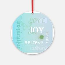 Joy Rising Aqua Sky Ornament (Round)