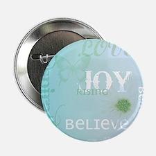 """Joy Rising Aqua Sky 2.25"""" Button"""