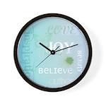 Joy Rising Aqua Sky Wall Clock