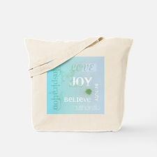 Joy Rising Aqua Sky Tote Bag