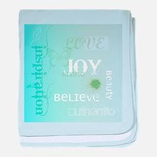 Joy Rising Aqua Sky baby blanket