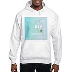 Joy Rising Aqua Sky Hooded Sweatshirt
