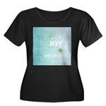 Joy Rising Aqua Sky Women's Plus Size Scoop Neck D