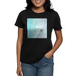 Joy Rising Aqua Sky Women's Dark T-Shirt