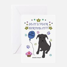 Happy Birthday from the dog-many breeds Greeting C