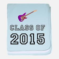 Class Of 2015 Guitar baby blanket