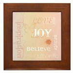 Joy Rising Pink and Peach Framed Tile