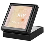 Joy Rising Pink and Peach Keepsake Box
