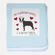 """My Guardian Angel"" Dog Breeds baby blanket"