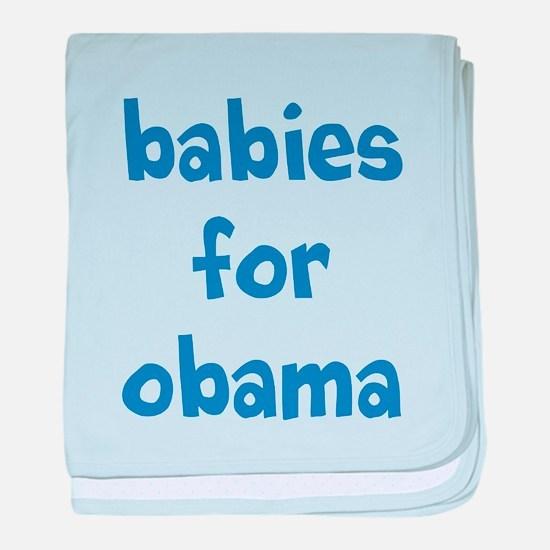 Font 2 in Blue baby blanket