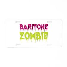 Baritone Zombie Aluminum License Plate