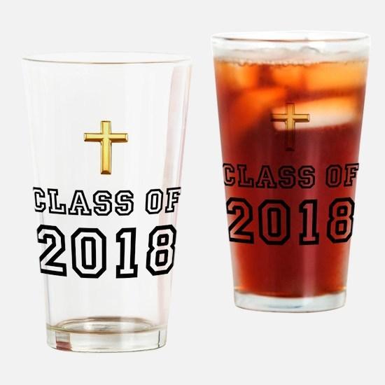 Class Of 2018 Cross Drinking Glass