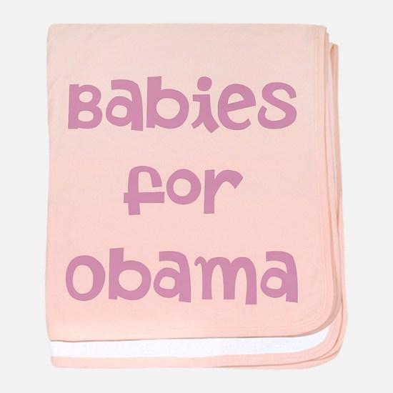 Babies for Obama (Font 1)) baby blanket