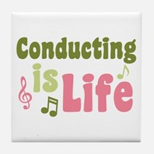 Conducting is Life Tile Coaster