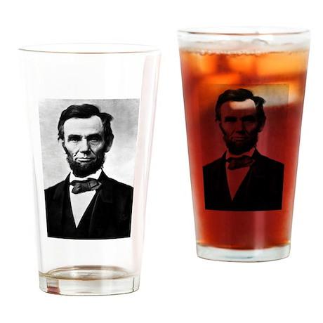 Honest Abe Drinking Glass