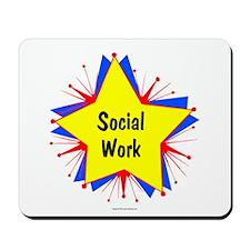 Social Work Starburst Mousepad