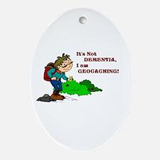 Dementia GPS Oval Ornament