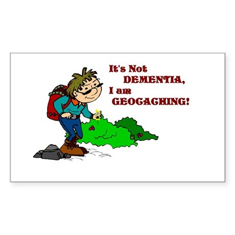 Dementia GPS Rectangle Sticker