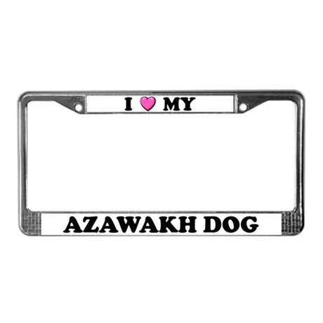 I Heart My Azawakh Dog License Plate Frame