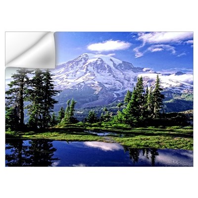 Mount Rainier National Park Poster Wall Art Wall Decal