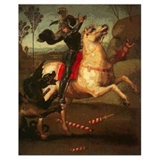 St. George Fighting Dragon Poster