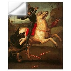 St. George Fighting Dragon Wall Decal