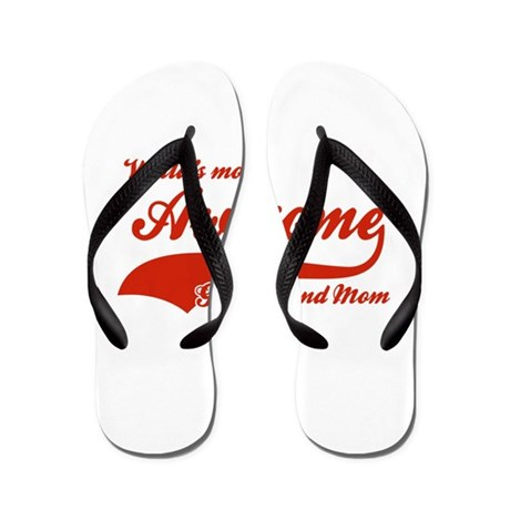 World's Most Awesome Great Grand mom Flip Flops