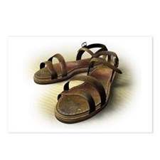 Sandals on sand Postcards (Package of 8)
