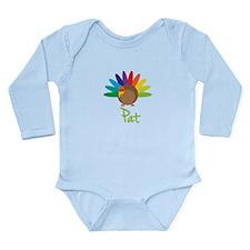 Pat the Turkey Long Sleeve Infant Bodysuit