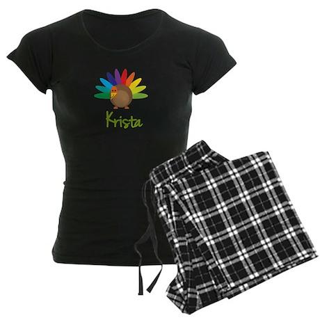 Krista the Turkey Women's Dark Pajamas